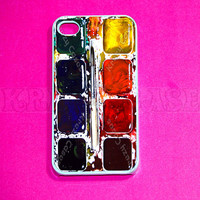 Watercolor Palette iphone 4 Case, iPhone 4s case , iPhone 4 Cases, Iphone 4s Cover,Case for iPhone 4