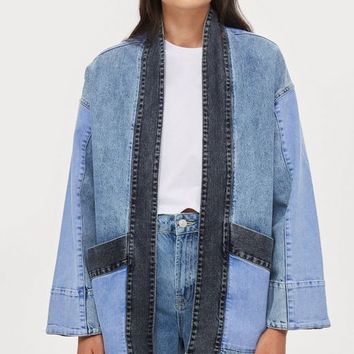 Denim Kimono Jacket by Native Youth | Topshop