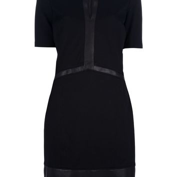 Helmut Lang two-tone shift dress