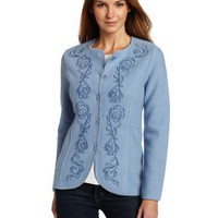 Pendleton Women`s Petite Embroidered Boiled Jacket