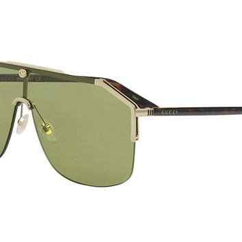Gucci GG0291S Mens Metal Shield Sunglasses