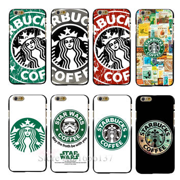 Fashion Coffee Protection Case PC Hard Cover for iPhone 6 and 6 Plus