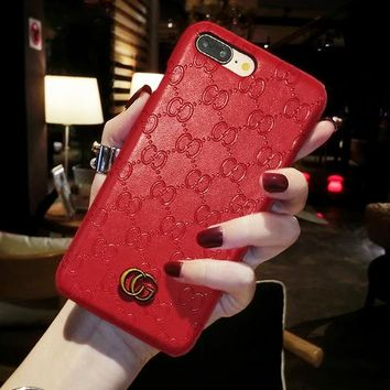 Luxury fashion phone case for iPhone 6 6s 6Plus 6sPlus 7 7Plus 8 8Plus X