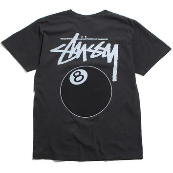 SU19 8 Ball Pigment Dyed T-Shirt Black
