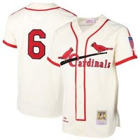 Stan Musial St. Louis Cardinals Mitchell & Ness MLB Authentic Jersey ¨C Cream