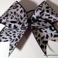 Hologram Cheetah Cheer Bow Cheerleading