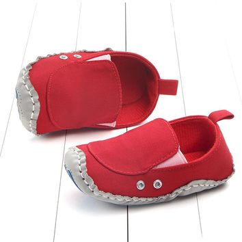 Free Shipping Lovely Toddler First Walkers Baby Shoes Round Toe Flats Soft Slippers Shoes Baby Boys Shoes