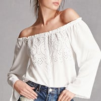 Honey Punch Eyelet Top