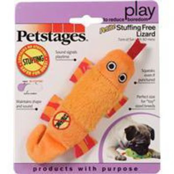 Petstages - Stuffing Free Lizard Dog Toy