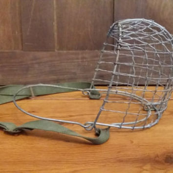Vintage Caged Metal Horse Bib Great Industrial Farmhouse Equestrian Decor