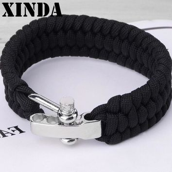 Xinda Adjustable Parachute Cord Tough 7-Strand Rope Bracelet Outdoor Survive Tool Outdoor Camping Survival Travel Tools Kits