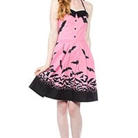 Sourpuss Spooksville Bats Dress Pink
