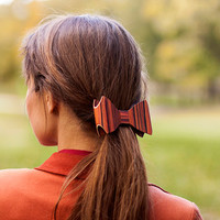 Hair Barrette - Rosewood / Wooden hair barrette / Wooden hair clip