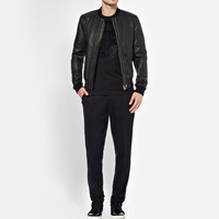 Dolce & Gabbana - Full-Grain Leather Bomber Jacket | MR PORTER