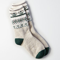 AEO Geo Fairisle Crew Socks , Medium Heather