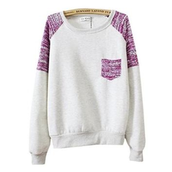 Gorgeous Hoodies Sweatshirts Pullovers Knitted - Sleeve & Pocket Grey Color