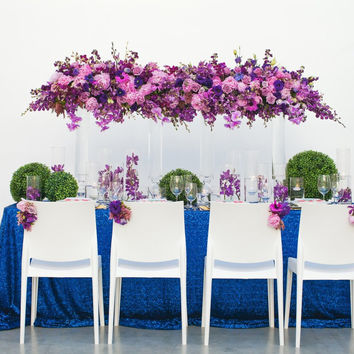Royal Blue Sequin Tablecloth
