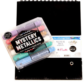 Mystery Metallics Gel Crayons & Sketchbook