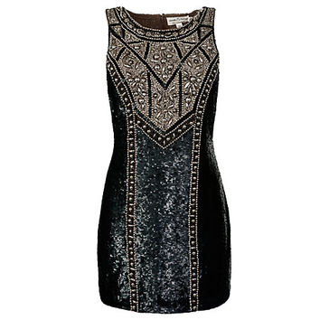Buy Needle & Thread Studded Contour Dress, Black online at John Lewis