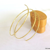Gold armlet cuff, hammered brass wrap around cuff, tribal fusion brass cuff, gift under 30