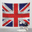 Union Jack Grunge Flag Wall Tapestry by Alice Gosling