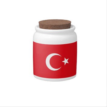 Turkish Flag on Candy Jar