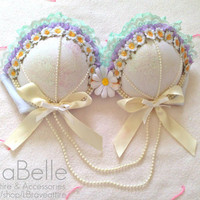 Minty pastel bra by LBraveattire on Etsy