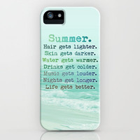 SUMMER iPhone Case by M✿nika  Strigel	 | Society6