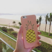 Love Pineapple Pattern Summer Fashion Style Lovely Women and Men Gift - Phone Case = 4723210116