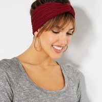 Burgundy Knotted Chiffon Hair Wrap | Wraps & Headbands | rue21
