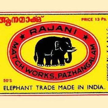 Rajani Elephant Trade (Canvas Art)