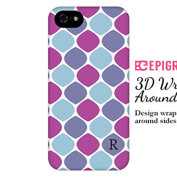 Personalized iPhone 6 case, blue and purple iPhone 6 plus case, honeycomb iPhone 5c case, iPhone 4s case, Phone 5s case, Galaxy S6 case
