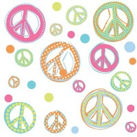 RoomMates RMK1437SCS Glitter Peace Signs Peel & Stick Wall Decals