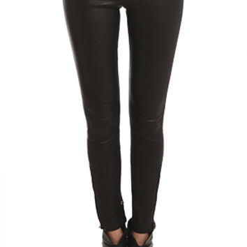 J Brand Mid Rise Leather Pants