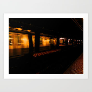 Subway Tunnel Art Print by lanjee