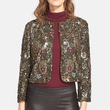 Women's Alice + Olivia 'Kidman' Embellished Jacket,