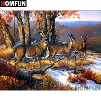 5D Diamond Painting Buck and Two Does Kit
