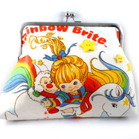 Rainbow Brite Clutch Purse