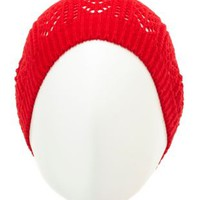 Pointelle Knit Beanie by Charlotte Russe
