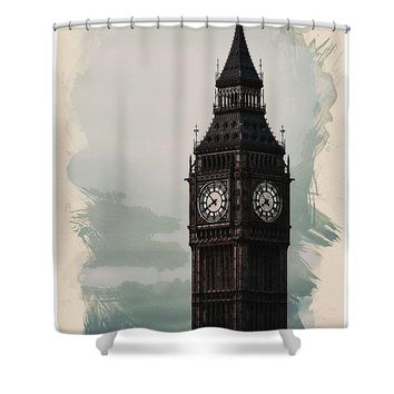 Wonders Of The Worlds - Big Ben Tower Of London - Shower Curtain