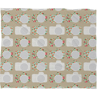 Allyson Johnson Sweet Cameras Fleece Throw Blanket