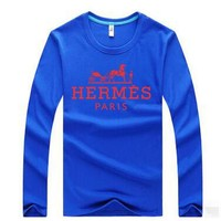 Hermes Casual Long Sleeve Top Sweater Pullover