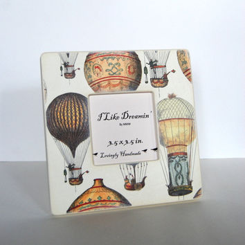 Hot Air Balloon Festival Picture Frame by Mmim on Etsy