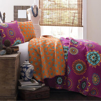 The Sasha Boho Bohemian Moroccan 3 PC Bed Quilt SET