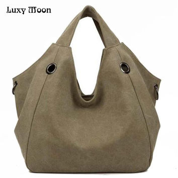 New 2016 Handbags Fashion Canvas Big Women Bags High Quality Hobo Messenger Bags Famous Top-Handle Bags 2016 Brand Ladies Sac