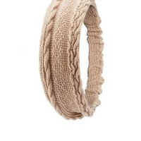 Cable Knit Head Wrap by Charlotte Russe