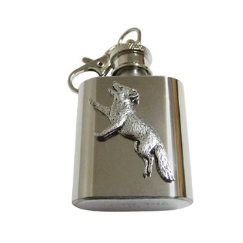 Running Fox 1 Oz. Stainless Steel Key Chain Flask