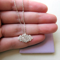 Sterling Silver - Cloud Necklace -.. on Luulla