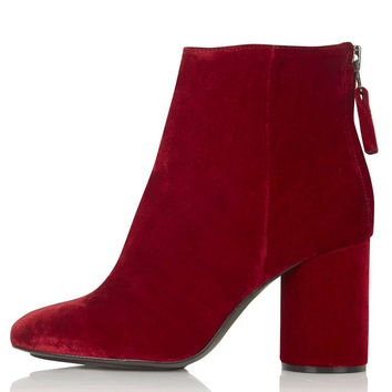 PINBALL Limited Edition Velvet Boots - New In
