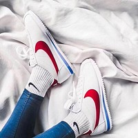 Nike Cortez Classic Retro Black White/Red Blue White Popular Women Men Comfortable Flat Sport Running Shoe Sneakers I